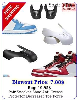 pair sneaker shoe anti crease protector decreaser toe force creasing suppor