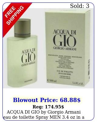 acqua di gio by giorgio armani eau de toilette spray men oz in a tst
