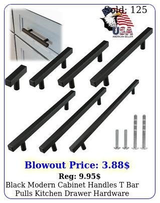 black modern cabinet handles t bar pulls kitchen drawer hardware stainless stee