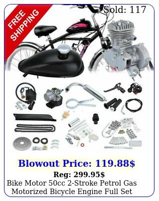 bike motor cc stroke petrol gas motorized bicycle engine full set chrome u