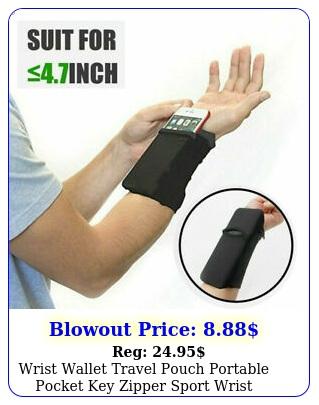 wrist wallet travel pouch portable pocket key zipper sport wrist accessorie