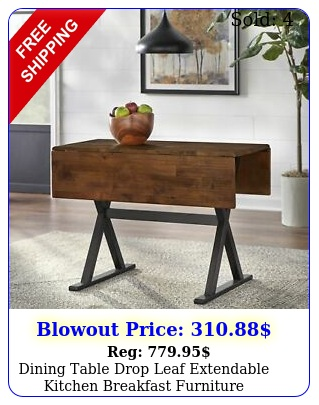dining table drop leaf extendable kitchen breakfast furniture farmhouse woo