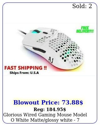 glorious wired gaming mouse model o white matteglossy white  buttons us
