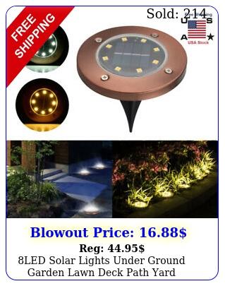 led solar lights under ground garden lawn deck path yard outdoor waterproof p