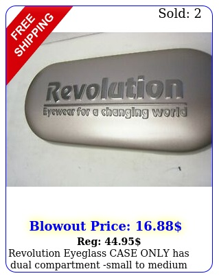 revolution eyeglass case only has dual compartment small to medium siz