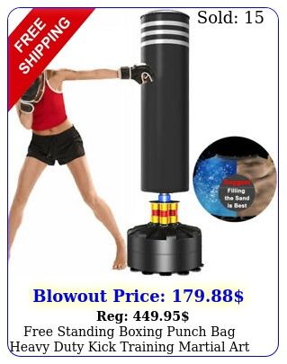 free standing boxing punch bag heavy duty kick training martial art home gy