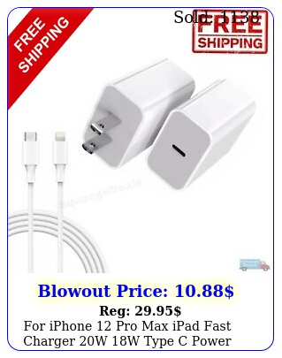 iphone pro max ipad fast charger w w type c power wall adapter cabl