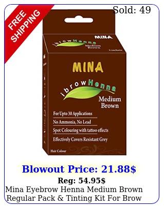 mina eyebrow henna medium brown regular pack tinting kit brow dy