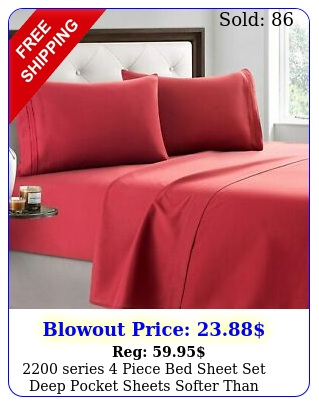 series piece bed sheet set deep pocket sheets softer than egyptian cotto