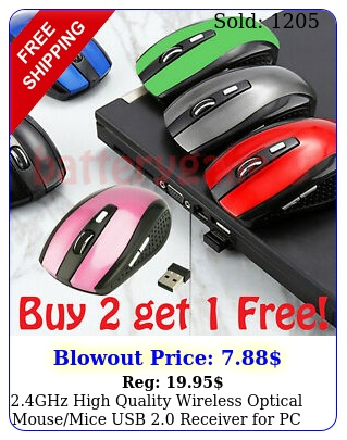 ghz high quality wireless optical mousemice  usb receiver pc lapto