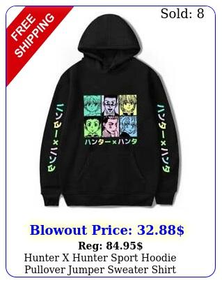 hunter x hunter sport hoodie pullover jumper sweater shirt sweatshirt blac