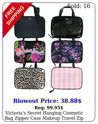 victoria's secret hanging cosmetic bag zipper case makeup travel zip nwt v