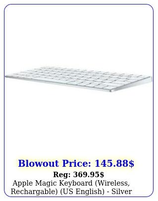 apple magic keyboard wireless rechargable us english silve