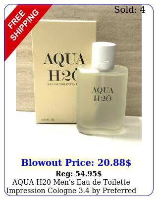 aqua h men's eau de toilette impression cologne by preferred fragranc