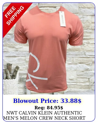 nwt calvin klein authentic men's melon crew neck short sleeve tshirt size