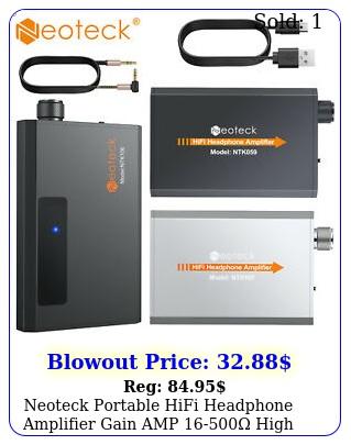 neoteck portable hifi headphone amplifier gain amp high impedance m