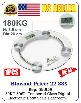 kg lb tempered glass digital electronic body scale bathroom weight scal