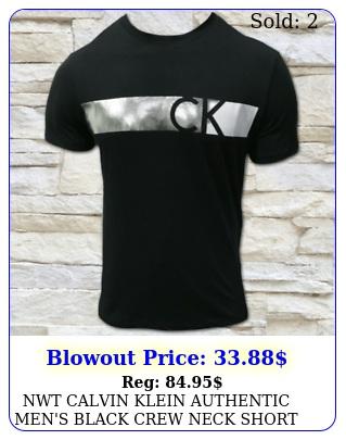 nwt calvin klein authentic men's black crew neck short sleeve tshirt size s x