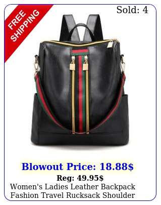 women's ladies leather backpack fashion travel rucksack shoulder bag handba