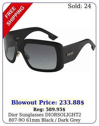 dior sunglasses diorsolight o mm black dark grey gradient len