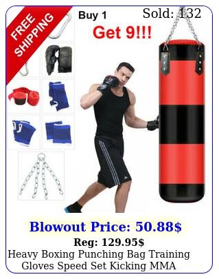 heavy boxing punching bag training gloves speed set kicking mma workout empt