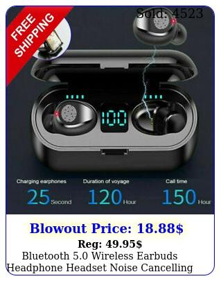 bluetooth wireless earbuds headphone headset noise cancelling tws waterproo