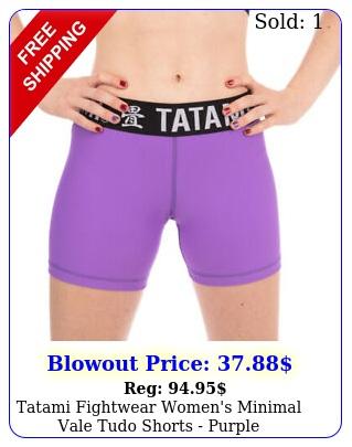 tatami fightwear women's minimal vale tudo shorts purpl