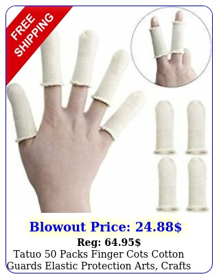 tatuo packs finger cots cotton guards elastic protection arts crafts am