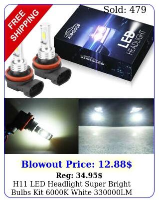 h led headlight super bright bulbs kit k white lm highlow bea