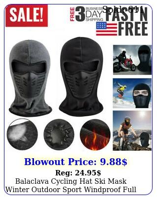 balaclava cycling hat ski mask winter outdoor sport windproof full face ca