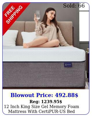 inch king size gel memory foam mattresswithcertipurusbed mattress in bo