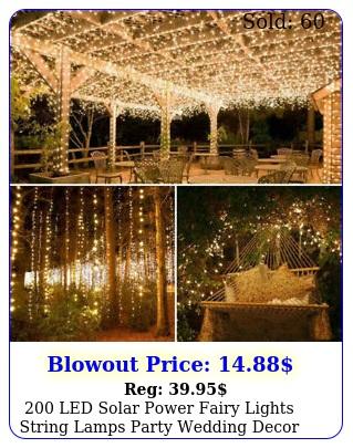 led solar power fairy lights string lamps party wedding decor garden outdoo
