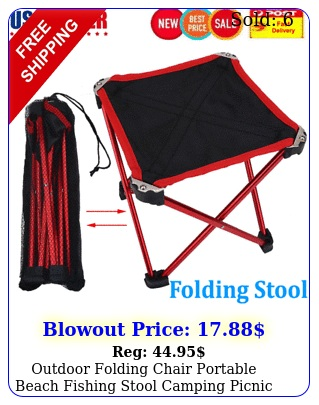 outdoor folding chair portable beach fishing stool camping picnic sea