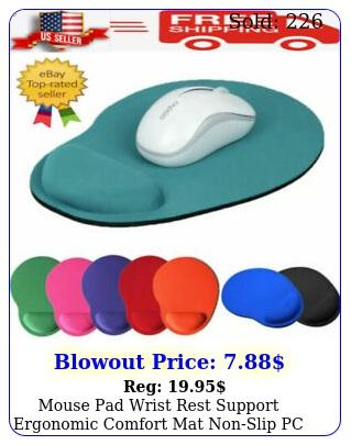 mouse pad wrist rest support ergonomic comfort mat nonslip pc laptop compute