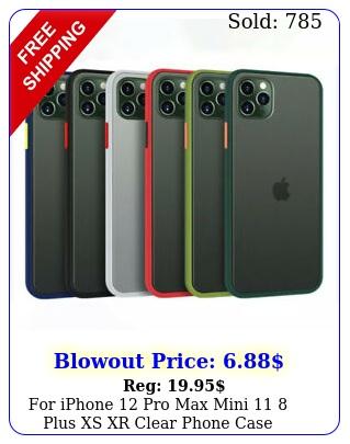 iphone pro max mini  plus xs xr clear phone case shockproof bumpe
