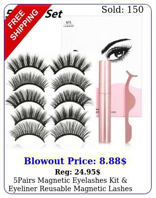 pairs magnetic eyelashes kit eyeliner reusable magnetic lashes gift wome