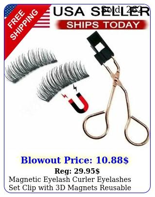 magnetic eyelash curler eyelashes set clip with d magnets reusable false lashe