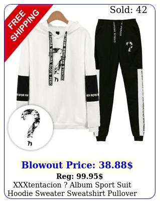 xxxtentacion album sport suit hoodie sweater sweatshirt pullover jacket pan