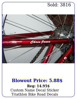 custom name decal sticker triathlon bike road decal