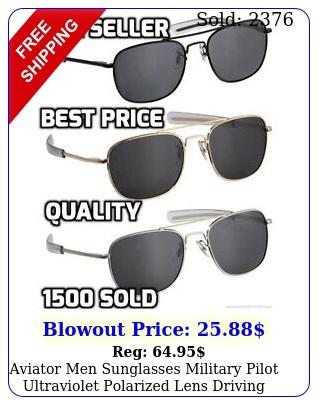 aviator men sunglasses military pilot ultraviolet polarized lens driving eyewea