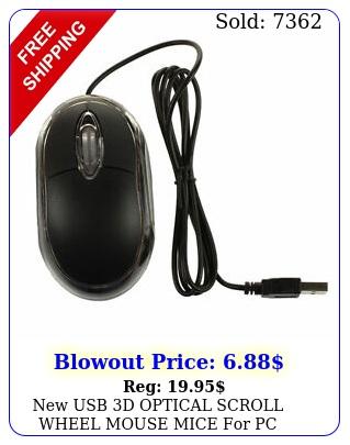 usb d optical scroll wheel mouse mice pc desktop laptop us selle