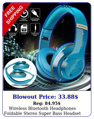 wireless bluetooth headphones foldable stereo super bass headset over the ea