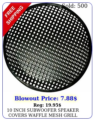 inch subwoofer speaker covers waffle mesh grill grille protect guar