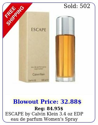 escape by calvin klein oz edp eau de parfum women's spray perfume ml ni