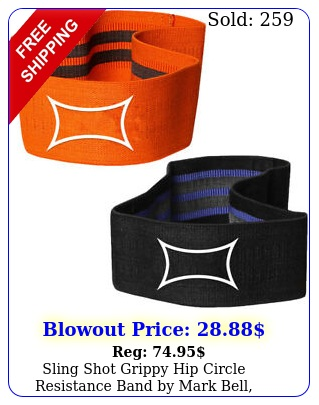 sling shot grippy hip circle resistance band by mark bell elastic glute warmu