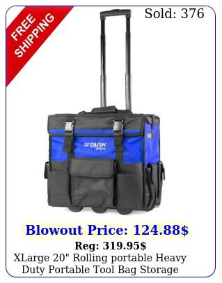xlarge rolling portable heavy duty portable tool bag storage organizer tot