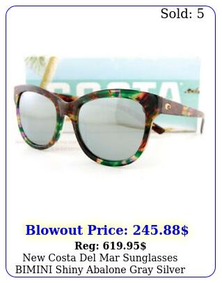 costa del mar sunglasses bimini shiny abalone gray silver mirror