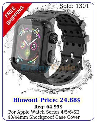 apple watch series se mm shockproof case cover screen protecto