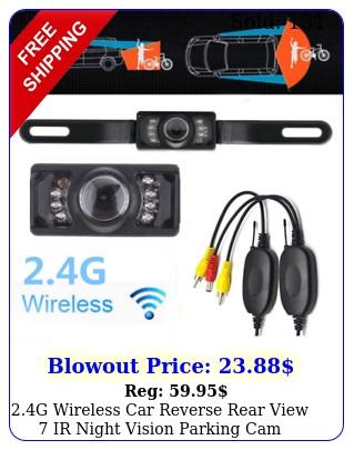 g wireless car reverse rear view ir night vision parking cam backup camer