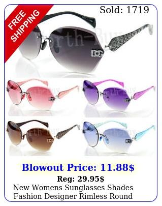 womens sunglasses shades fashion designer rimless round hexagon large wra